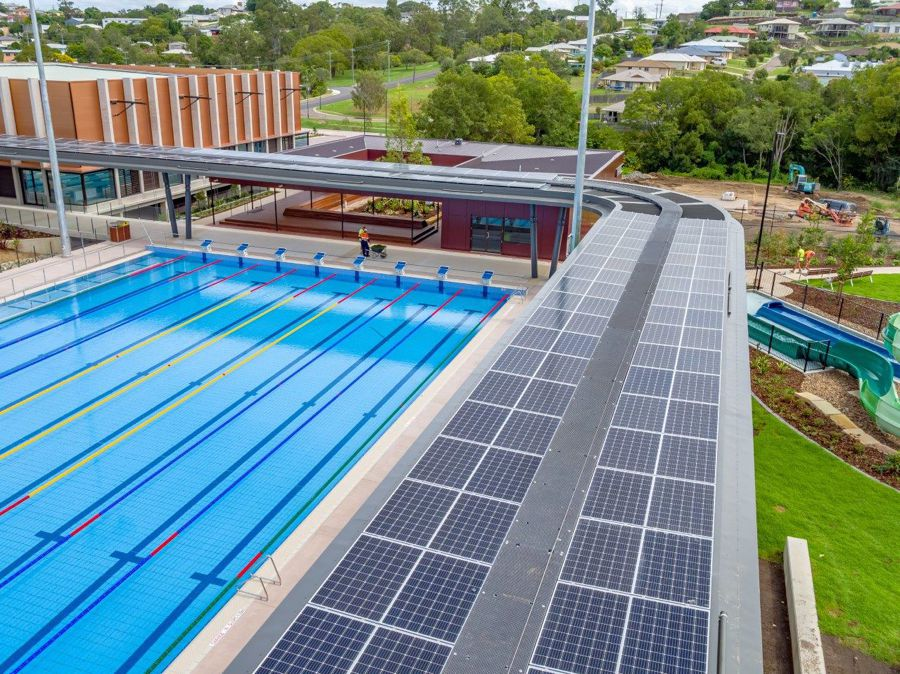 Gympie Aquatic Centre installed with lots of solar panels