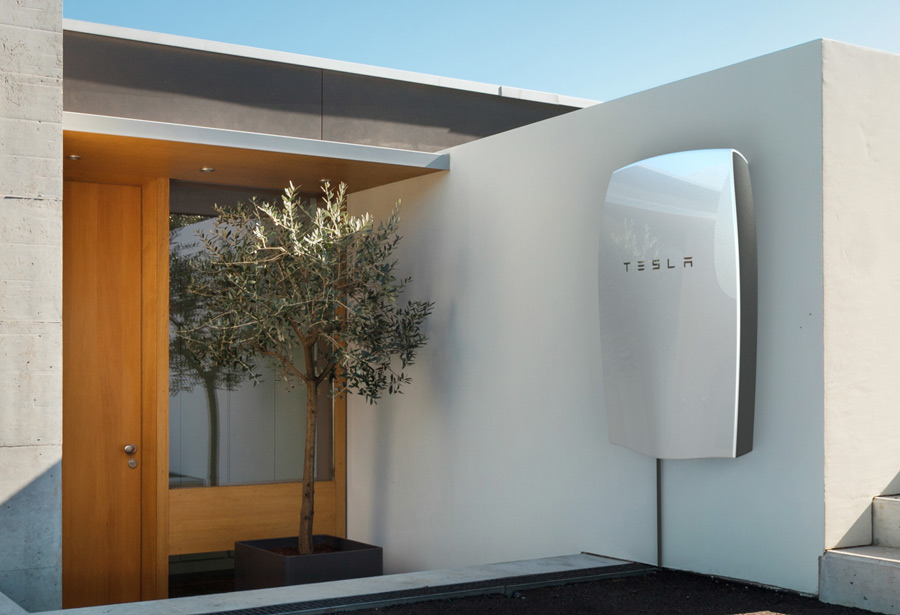 tesla unit installed on the wall